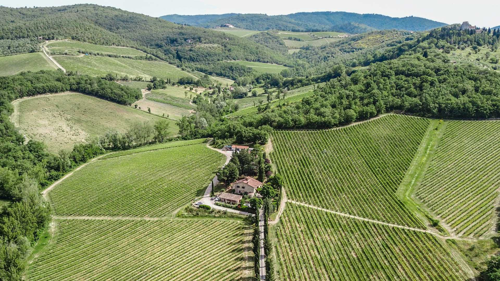 COUNTRY HOUSE WITH VINEYARDS FOR SALE CHIANTI CLASSICO